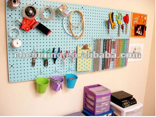 6mm high density melamine mdf pegboard for display