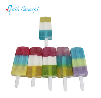 New colorful  ice cream lolly  natural handmade soap