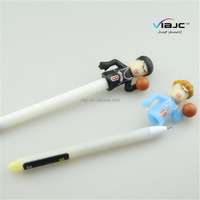 Movie star figure Slamdunk shape ball pen with creative design for give away