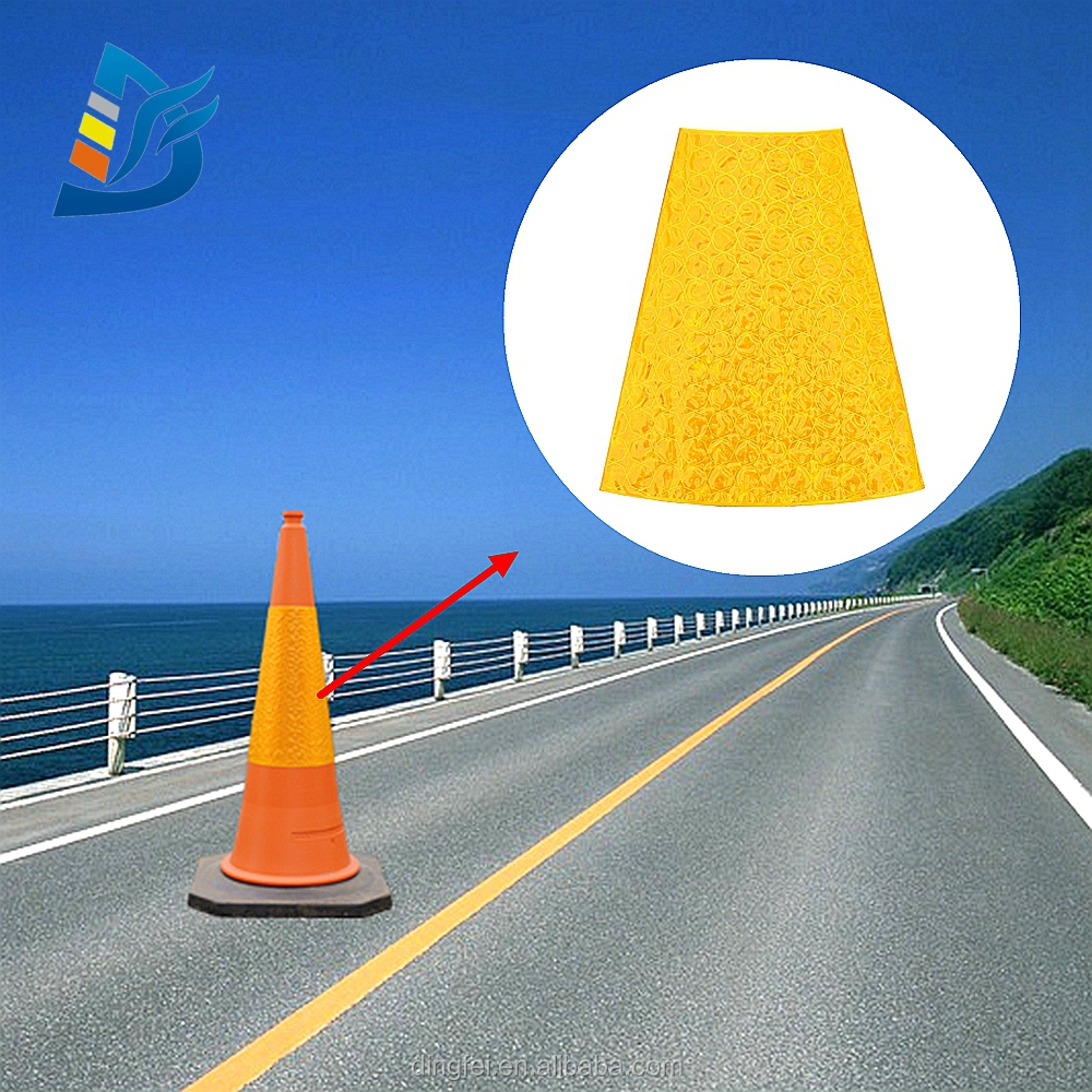 750mm High Quality Road Safety PVC Reflective Traffic Cone Sleeve