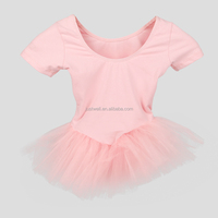 Children Pink Skirted Leotard Tutu Skirt