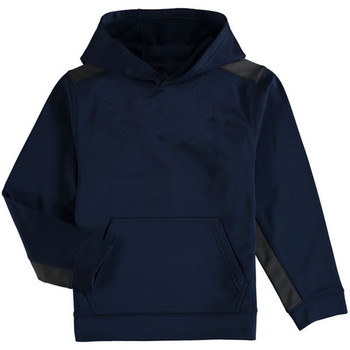 Youth Navy Color Block Performance Pullover Hoodie
