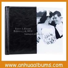 leather cover with Bride& Groom name imprinting wedding album