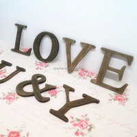 Accept OEM cheap antique plywood craft letters,vintage wooden letter