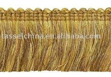 brush fringe ( QX-BF33 ) ,brush trim , bullion fringe