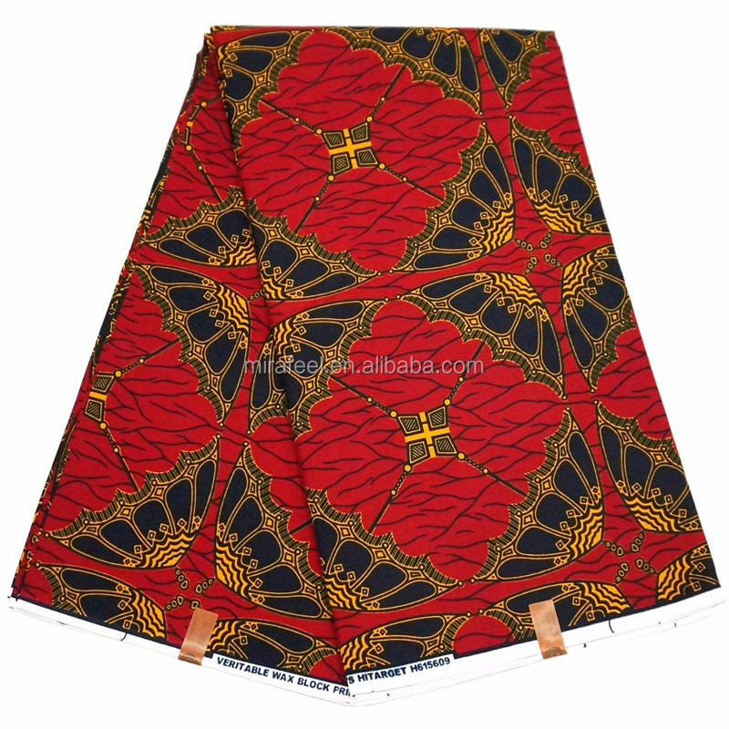 Wholesale Red Fabrics Super Deluxe Wax Cash Bag Design A736
