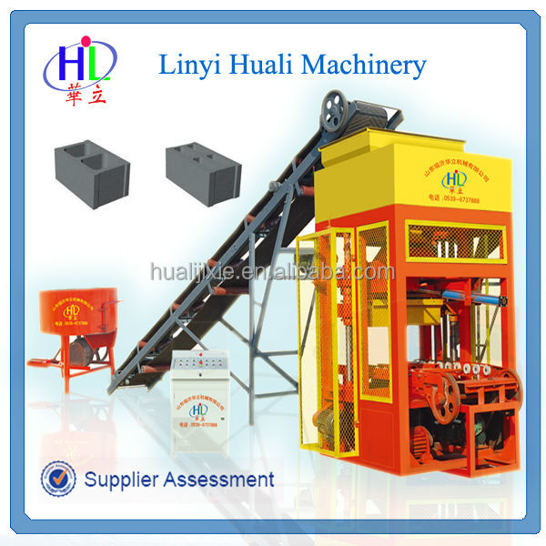 Small Construction Equipment QHL4-25 Used Concrete Block Making Machine