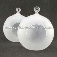 Hanging forested glass Ball Tealight Holder MH-12266