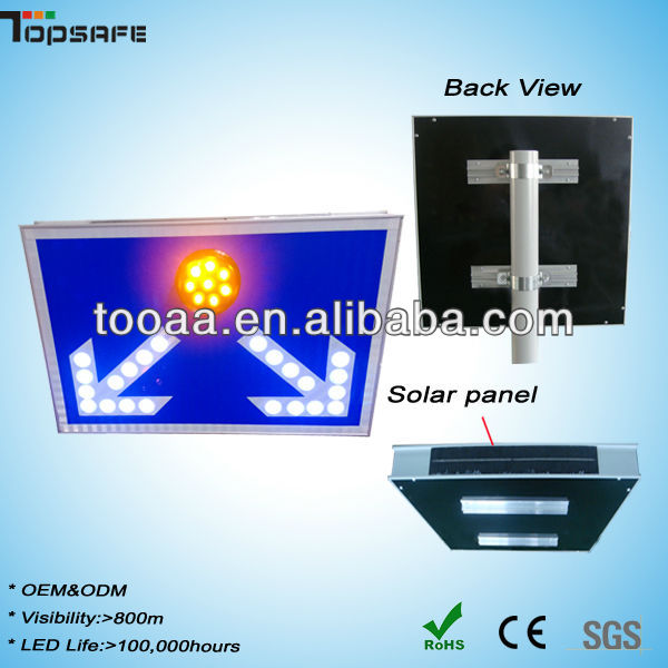 IP65 OEM Solar LED Road Printable Traffic Sign