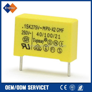 Metallized Polypropylene film capacitors 275v x2