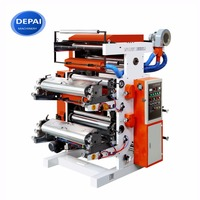 DEPAI FP2600 Plastic Film Paper New 2 Color Flexo Flexographic Printing Printers Machine