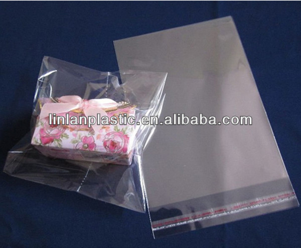 transparent oker brand self adhesive bags for packaging small gift