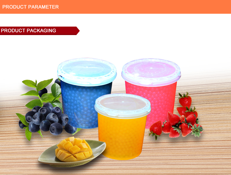 New! Bubble Tea Popping Boba, Fruit Juice Ball, Ice Dessert Topping
