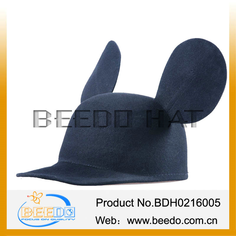 china supplier wool felt ears cap baseball cap ear flap
