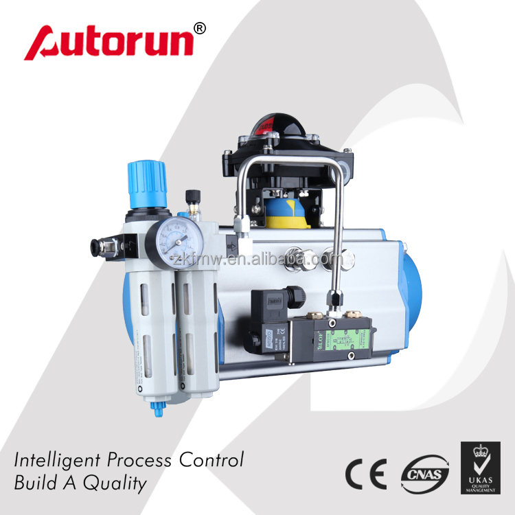 Pneumatic Actuator with Limit Switch, Solenoid Valve and Air filter regulator