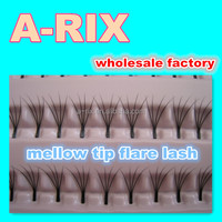 67 4D tip mellow knot free custom eyelash packaging indonesia flare eyelashes