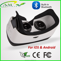 remote control button in 3D virtual smart video glasses with CE FCC ROHS