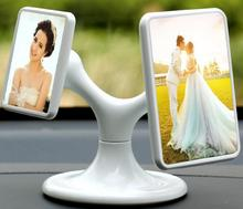 Mini 360Degree Rotating Creative Magnetic Tabletop Auto Photo Frame in Acrylic for Car Dashboard Decoration