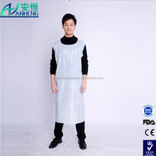 poly apron/poly smock/disposable plastic apron
