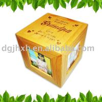 Wooden Box With Photo Frame