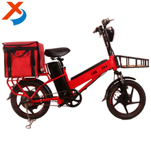 "New 18, 20"" inch dual batteries long range food cargo e-bike / electric bicycle /bike 2017 with pizza box for fast food delivery"