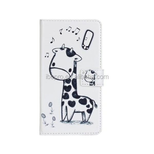 Cartoon Giraffe Wholesale Book Style PU Wallet Case for Samsung Galaxy S3 i9300 Galaxy S3 Neo i9301