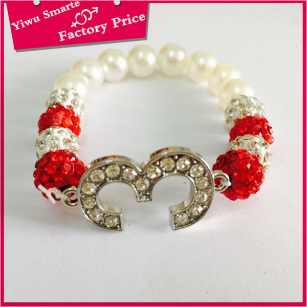 High End Wholesale Shamballa Red Crystal