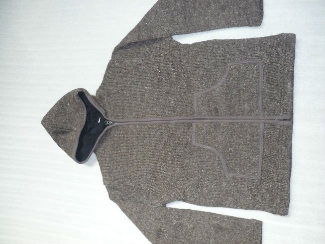 double knitting woolen jacket