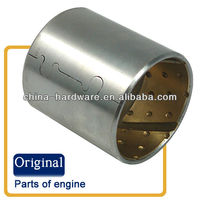 Oil-retaining bimetallic bushing