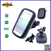 Hot Selling 360 Degree Rotating Bike Bicycle Mount Holder Stand Tough Waterproof Case Pouch for iPhone 5 Laudtec