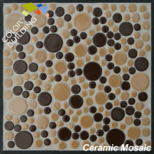 cheap penny round crackle ceramic mosaic swimming pool tile different size