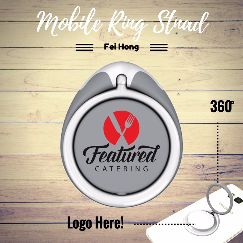 Multi-function Personalized Logo Print Cell Phone Ring Holder Gift for Catering