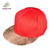 Custom Embroidered Flat Brim PU Leather Faux Snakeskin Snapback Cap