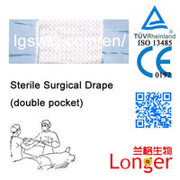 Transparent Adhesive 2 Pocket Disposable Surgical Drape