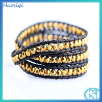 Hot Sale Wholesale Golden Crystal Leather
