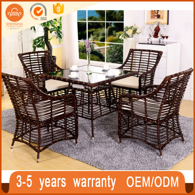 cheap garden rattan table sets/outdoor patio rattan furniture /stackable rattan outdoor wicker patio furniture