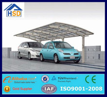 steel frame portable mobile outdoor polycarbonate roof vinyl carport