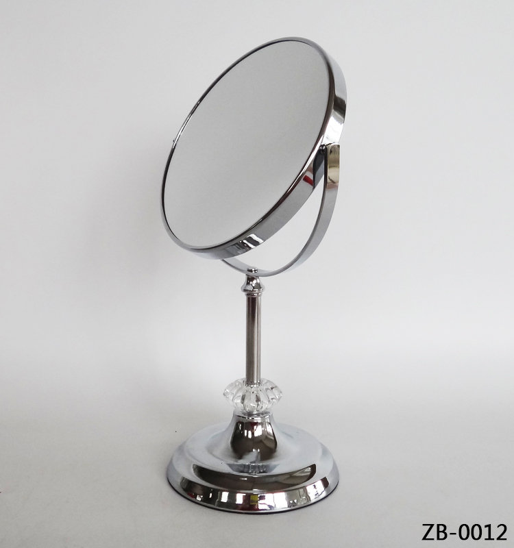 Silver metal framed two way cosmetic cheap price vanity mirror