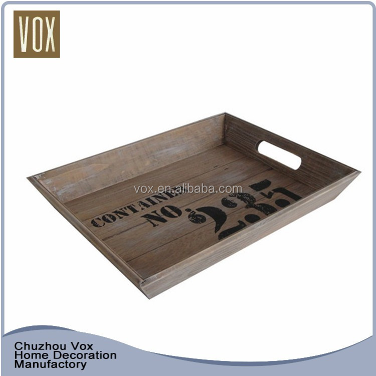Hot Sale Cheap Low Price Durable rectangular serving tray wood