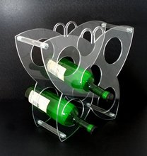 Butterfly Stackable Modular Wine Bottle Holder /Shelf / Stand / Display / Rack