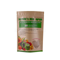 Biodegradable food grade stand up ziplock dried fuirt paper bag with shape window