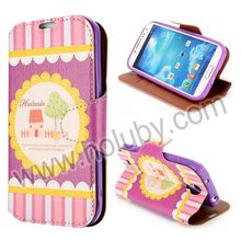 MELOCO Case for Samsung Galaxy S4,Foldable Flip Stand Wallet Leather Case for Samsung Galaxy S4 i9500 i9505 i9508