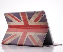 Retro UK flag leather case with card slots for ipad air