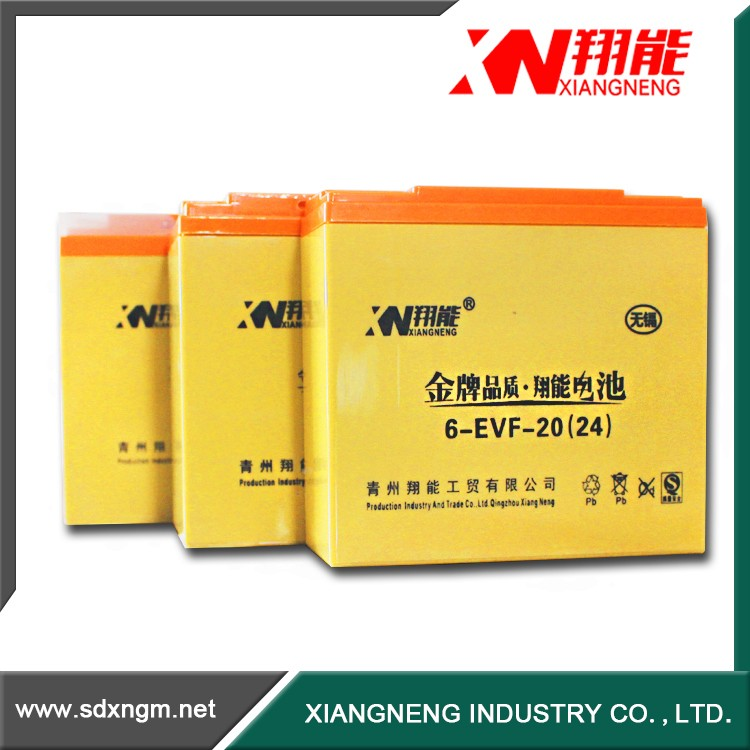 China Electric Vehicles battery 20ah gel battery