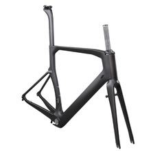 Aero hidden brake carbon fiber road bike frame size 45/48/50/52/54/56/58/60cm with 25C max tire