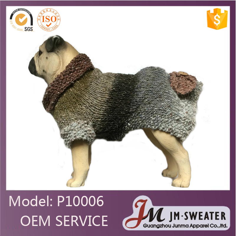 Fashionable pet accessories 2016 custom pet dog sweater designs hand knit cashmere dog sweater