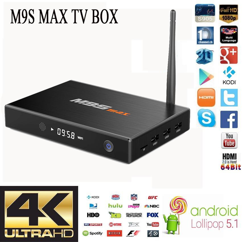 Aesthetic Appearance M9S MAX Amlogic S905 Android 4K International TV Box