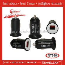 2012 Top Selling Dual Blackberry Car Chargers for Promotional Gifts Giveaways (NT660)