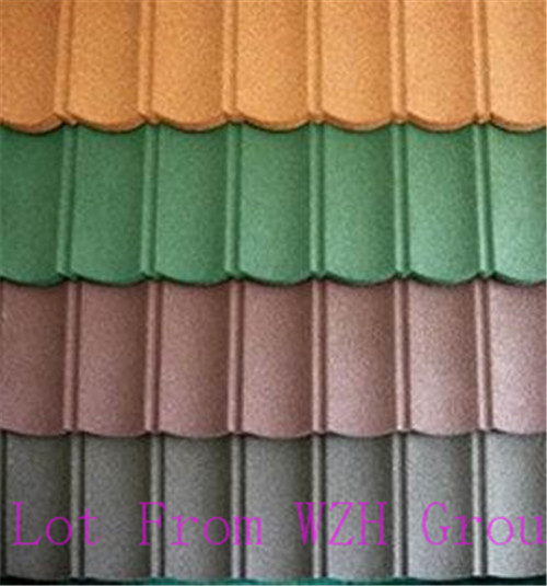 natural stone chip coated metal roof tile in brazil