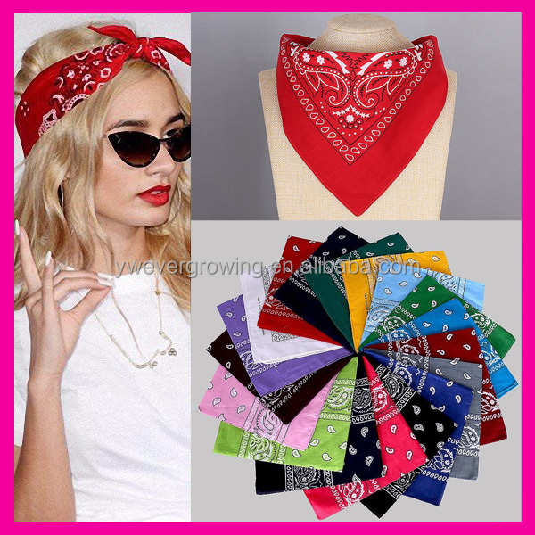 Women Men Fashion Cheap Bicycle Bandana Motorcycle Female Hijab Square Head Scarf Cotton Bandana
